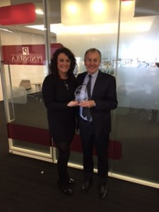 Pictured are Rachel Daley, Damar's Business Development Manager with Peter Done of Peninsula Business Services.