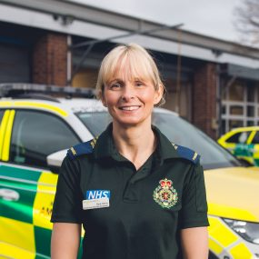 Photo of apprentice at NW Ambulance Service