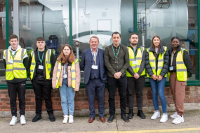 Group photo of JW Lees Apprentices