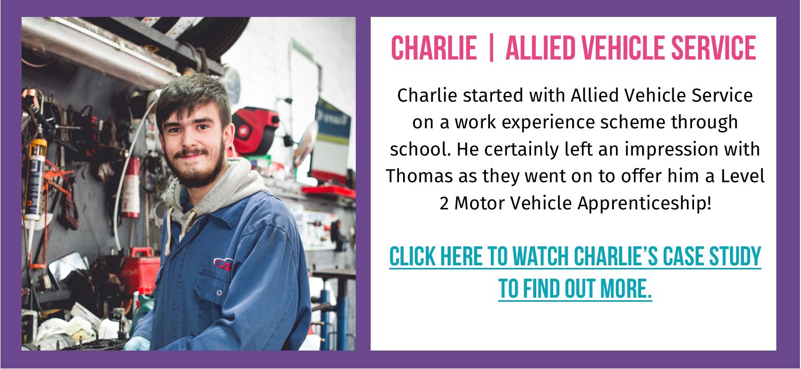 Photo of Charlie - Level 2 Motor Vehicle Apprentice at Allied Vehicle Service