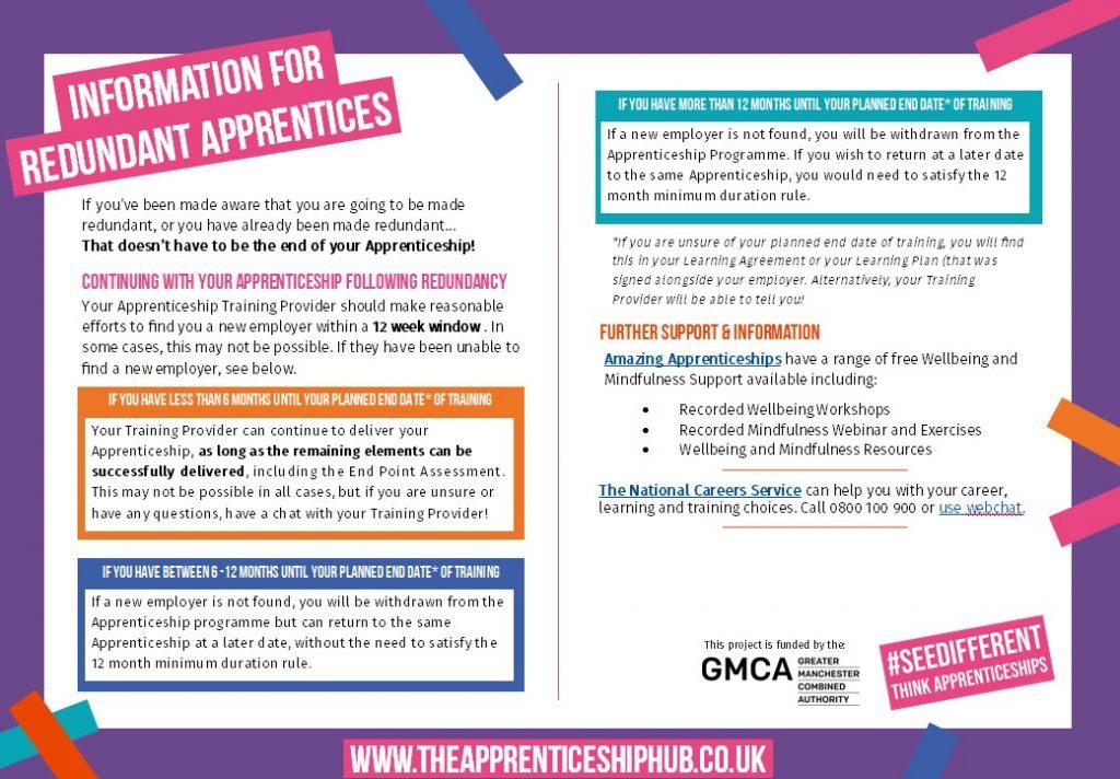 Advice for redundant Apprentices - 2020